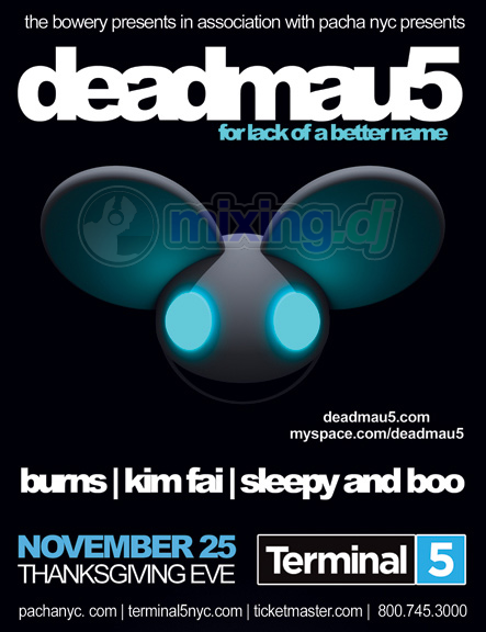 Deadmau5 - Live @ Terminal 5 New York City 25-11-2009